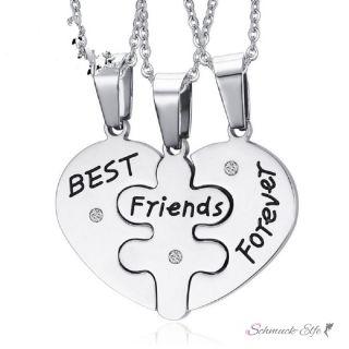 Freundschaftsketten Herz & Puzzle BEST FRIENDS FOREVER...