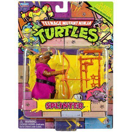 Teenage Mutant Ninja Turtles Retro Splinter Action Figure, Multicolor