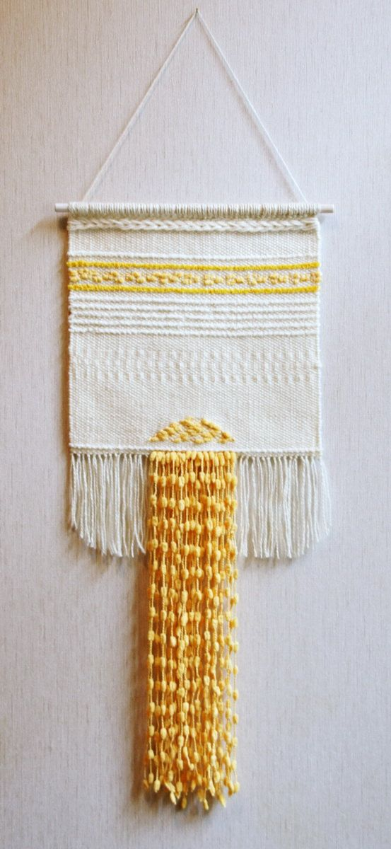 Wall weaving woven wall hanging handwoven wall by Delekselja