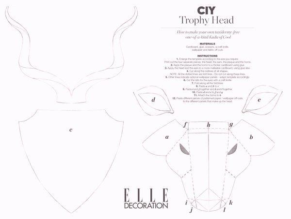 Cardboard Elephant Head Template Inspirational Ram