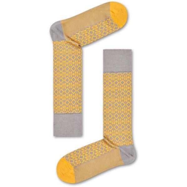 Dressed Aztec Sock (80 PEN) ❤ liked on Polyvore featuring intimates, hosiery, socks, aztec socks and formal socks