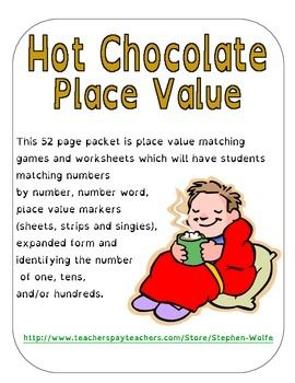 hot chocolate place value place value worksheets expanded form and places. Black Bedroom Furniture Sets. Home Design Ideas