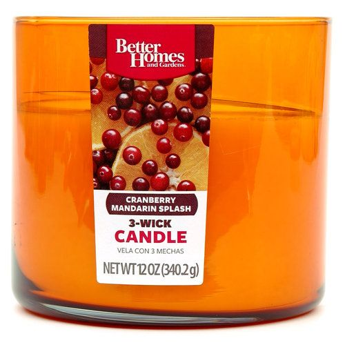 Better Homes And Gardens 12 Ounce Candle Cranberry Mandarin Splash Other Home