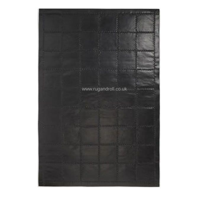 Jacaranda Leather LT314 Sleek Black Rug Beautiful and unique leather rugs are hand stitched with thick wool felt backing. This rug can be ordered made to measure in any size to meet your requirement and there is choice of colours as well.