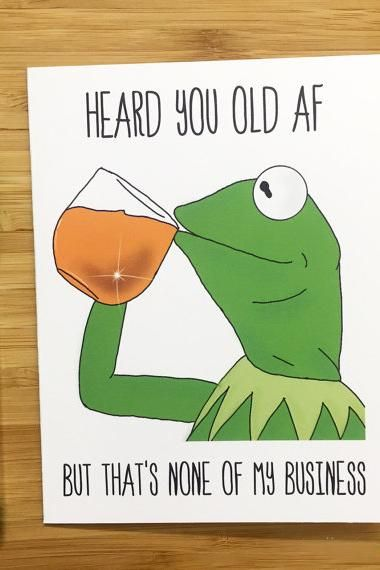 Yea Oh Greetings Kermit Birthday Card