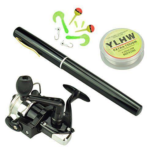 #fishingshopnow 38 inches Pocket Pen Rod Set,Mini Fishing Rod and Reel Combos,Portable Travel Fishing Gear in A Box,Good… #fishingshopnow