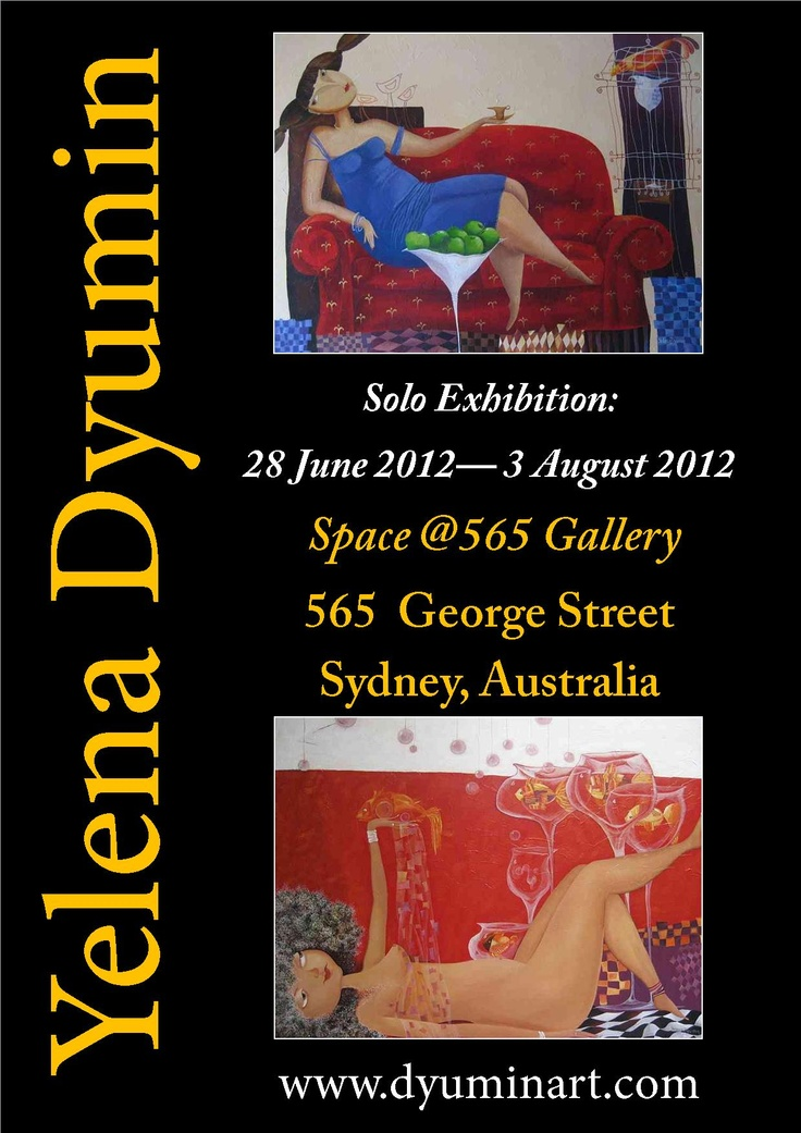 Art exhibition by Yelena Dyumin - #dyuminart