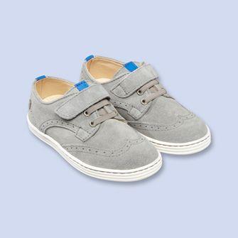 Suede wingtip sneakers - Boy - CHINE GREY - Jacadi Paris
