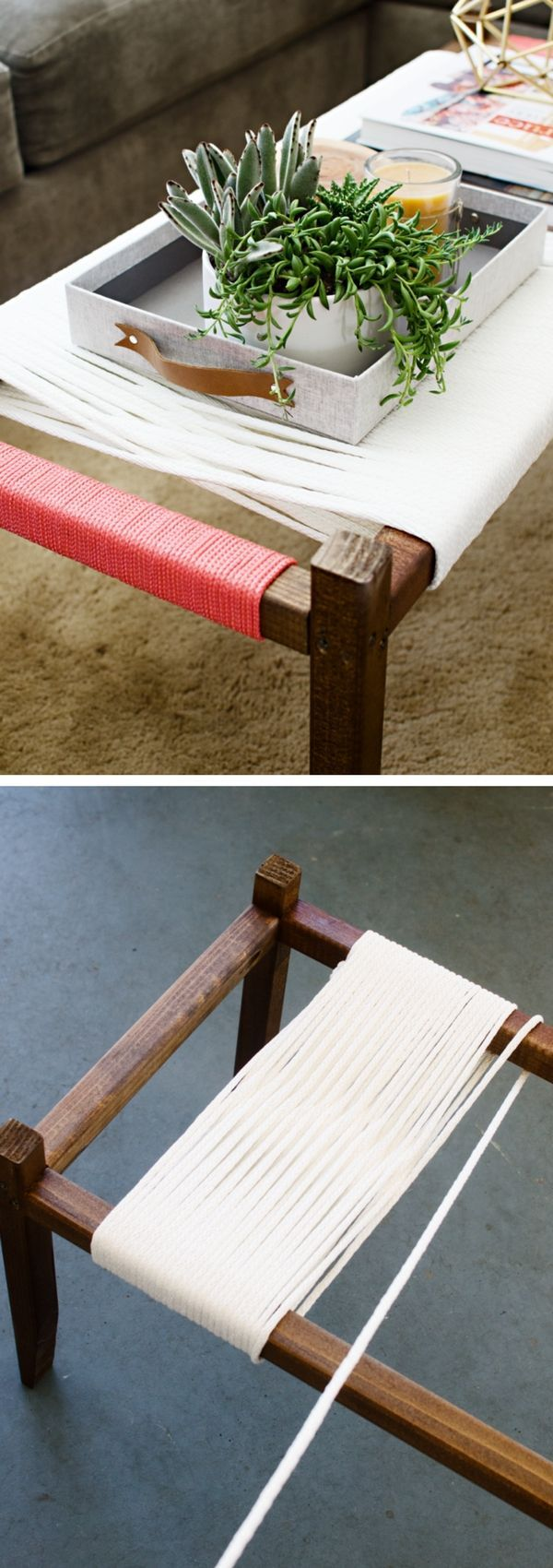 Check out the tutorial on how to make a DIY woven bench @istandarddesign