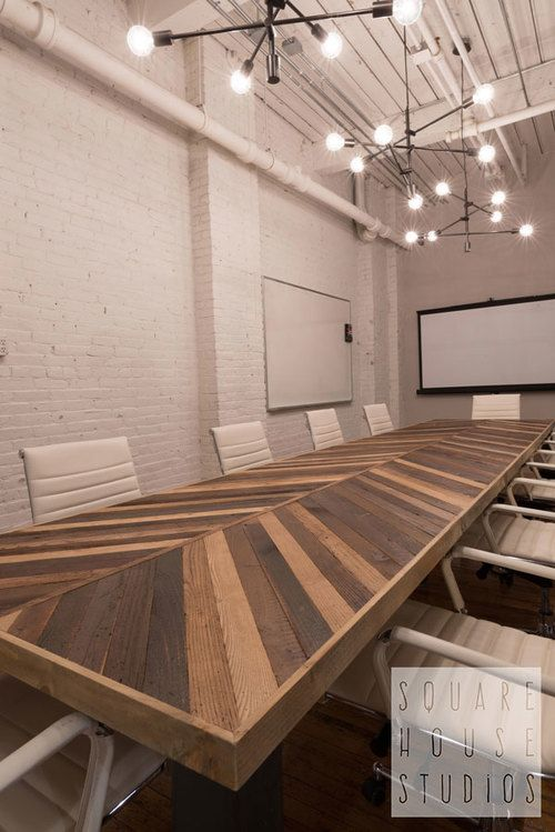 COACHUP | Boston | Custom Industrial Conference Table | Photo by Danielle Sykes #squarehousestudios