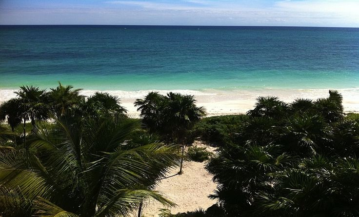 The view from Casa Ikal in Sia'an Kaan, Riviera Maya, Mexico
