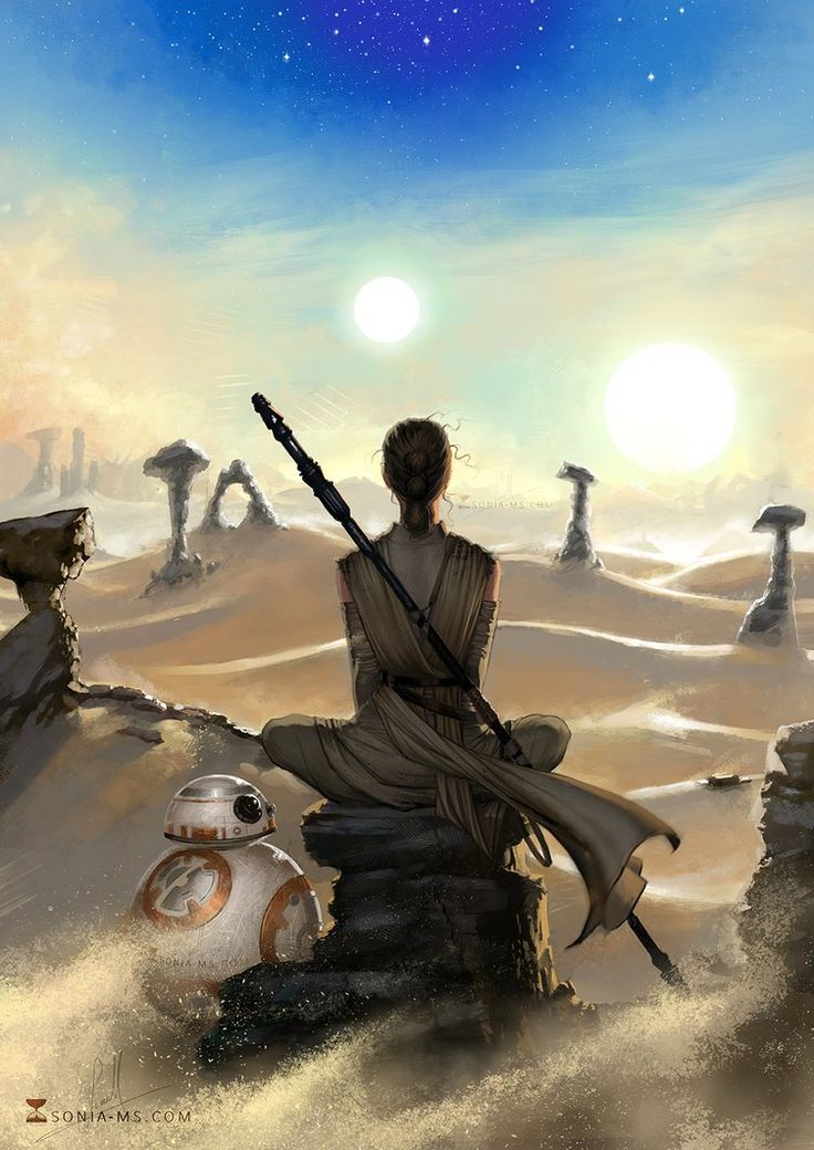 Star Wars - Rey and BB-8 by Sonia Matas - Buy Print HERE