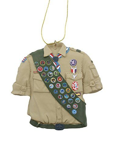 Kurt Adler Boy Scouts of America Eagle Scout Shirt Detailed with Eagle Accessories Christmas Ornament