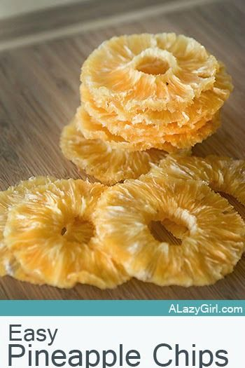 Super Easy Pineapple Chips - These are CRAZY easy to make and only take a few minutes to prep.