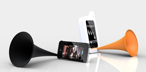 Clever and Beautiful iphone speaker