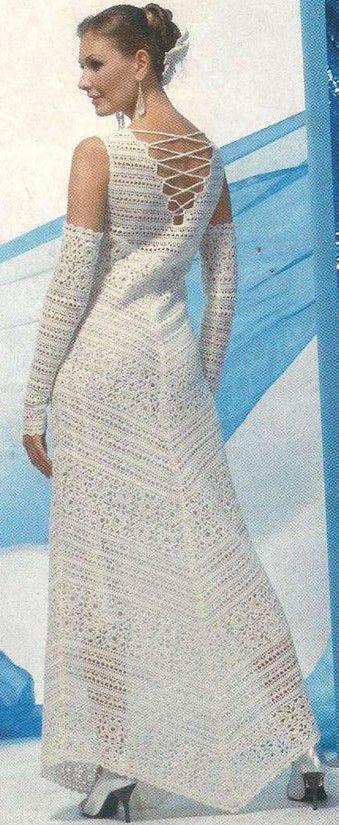 Платье для невесты крючком