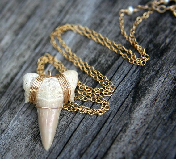 Shark Tooth Necklace - I remember having one of these when I was a kid.