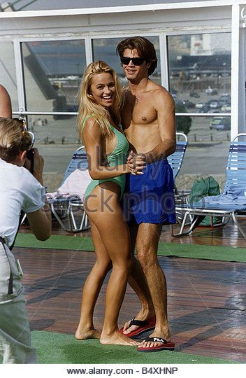 David Charvet and Pamela Anderson the new recruits to Baywatch the American Drama series about Beach Lifeguards - Stock Image