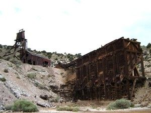 Large mining structures still stand in this legendary ghost town located in Beaver County. The wild town had a peak population of nearly 6,000 residents and was considered the Tombstone of Utah because of its high murder rate. (Photo: Grant Olsen)