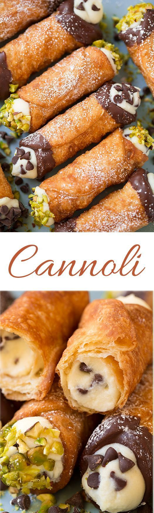 Cannoli (shell and filling recipes) - These are seriously dreamy! Perfectly crisp shell and deliciously creamy filling. Just like the ones from Italian bakeries.
