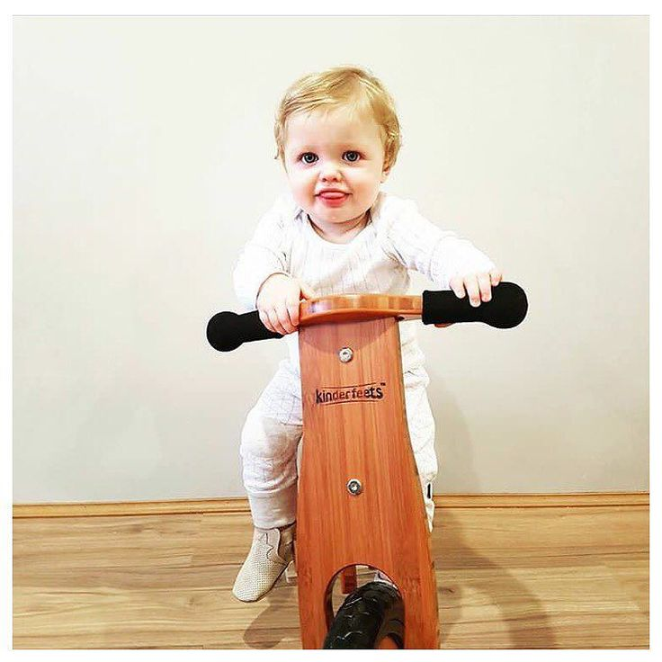 Happy First birthday to this little cutie @ruby.and.rhy!  Loving his new kinderfeets bamboo Eco balance bike! Afterpay and ZipPay available FREE shipping on all bikes!