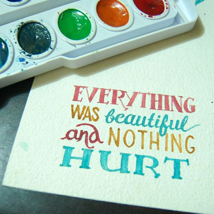 That time I dabbled in watercolor typography.
