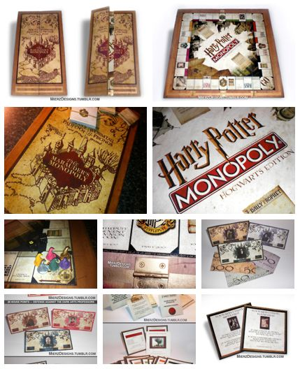 I'd totally play this. Harry Potter Monopoly.