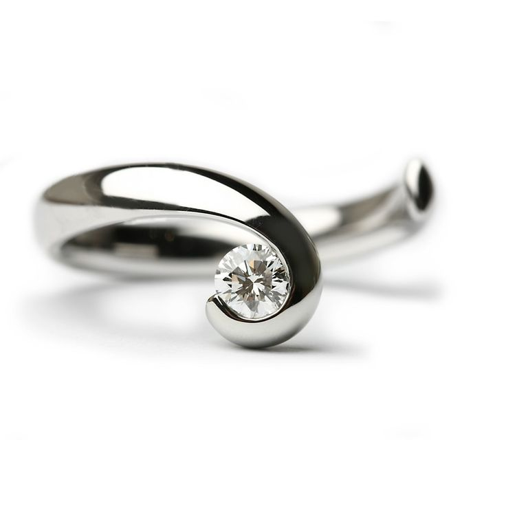 paul spurgeon wave flawless handmade designer engagement rings engagement rings - Modern Wedding Rings