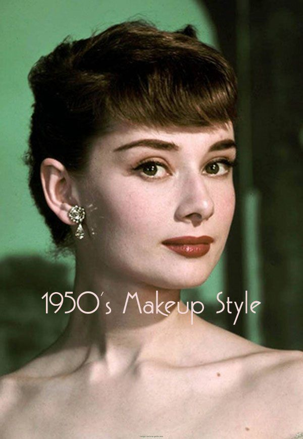 an image archive of early 20th century makeup styles for women from 1950 to 1960
