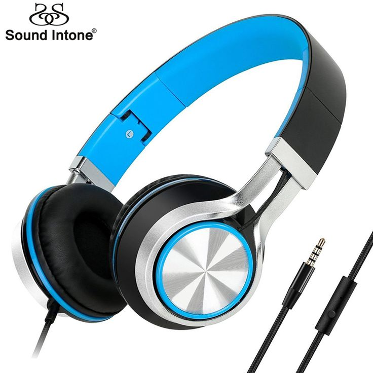 Sound Intone HD200 Wired Headphones with Microphone Lightweight Foldable Headphone Stereo Headsets for Computer PC MP3 Headphone