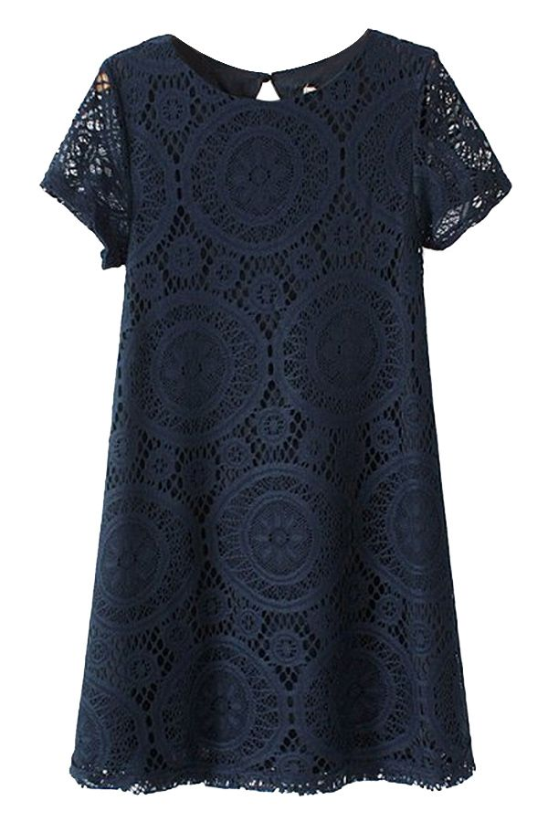 Sweet Lace Peasant Dress - OASAP.com