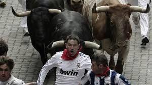 Image result for spain running of the bulls