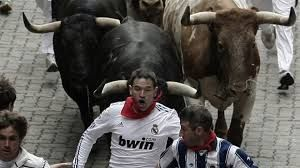 Image result for spain running of the bulls