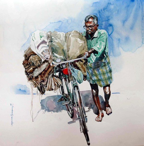Watercolour Paintings By Rajkumar sthabathy (Part - II) by India Artist