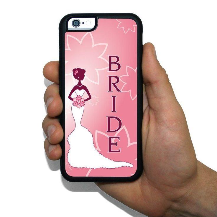 iPhone 6 Slim Protective Case - Wedding Theme Pink Bride