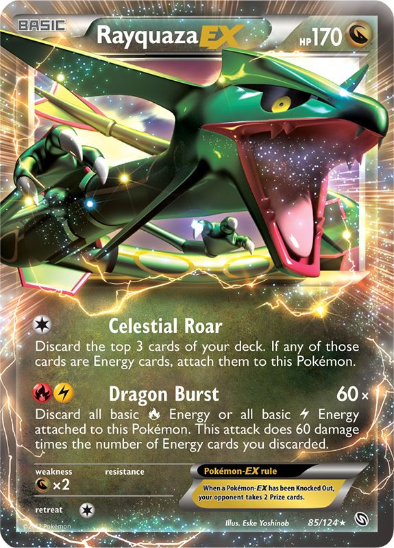Rayquaza-EX from Dragons Exalted  - What happened to this card game?