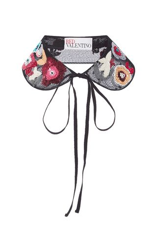 Fancy Flower Embroidered Collar by RED VALENTINO for Preorder on Moda Operandi