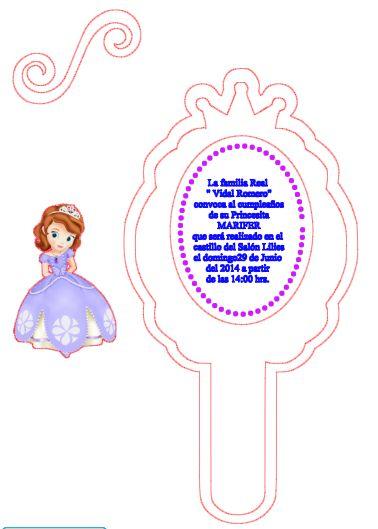 Resultado de imagen para marco de espejo de princesa sofia