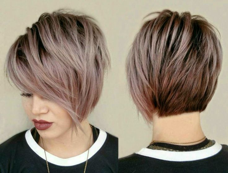"Love the cut and color on this. [ ""Sawyer next haircut Dusty Rose: Formulas, Pricing & HOW-TO"", ""The undercut grow out"", ""Are you afraid of trying a short pixie cut but still want to cut your hair short? We recommend a long pixie cut. Here are 4 ways in which you can style one."", ""Pixie cuts are so versatile nowadays and long pixie cuts getting more and more popular. So here are the pics of 20 Longer Pixie Cuts We Love! Pixie cuts are."", ""short hairstyles with long bangs - short asy..."