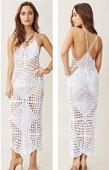 Kim Crochet Cover-Up Midi Dress