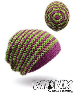 Mütze häkeln mit Rosenstäbchen und Farbwechsel - halbe Stäbchen im Zickzack Muster - Long Beanie