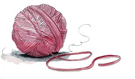 Spinning You a Yarn | Long Blue Straw
