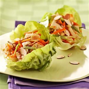 13 Ways to Make Lettuce Wraps - Skip the bread, buns and tortillas and make these recipes for lettuce wraps stuffed with chicken, pork, shrimp, tofu and more fillings.