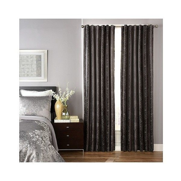 Avignon Blackout Curtain Panel Gray (265 CNY) ❤ Liked On Polyvore Featuring  Home,