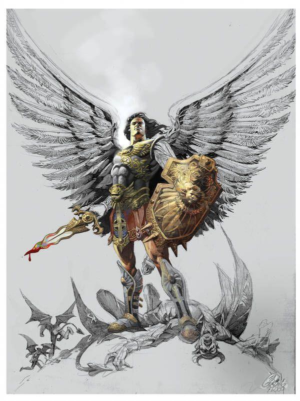 событие картинки архангелов для тату привлекает