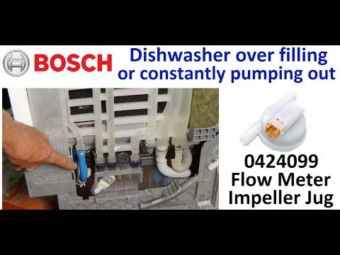 Bosch dishwasher keeps emptying and filling, how to diagnose the fault and replace parts - YouTube