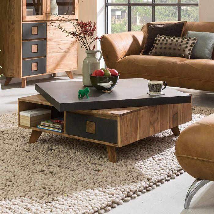 Gutmann Factory Couchtisch Trissino Akazie Holz In 2020 Couchtisch Tisch Couch