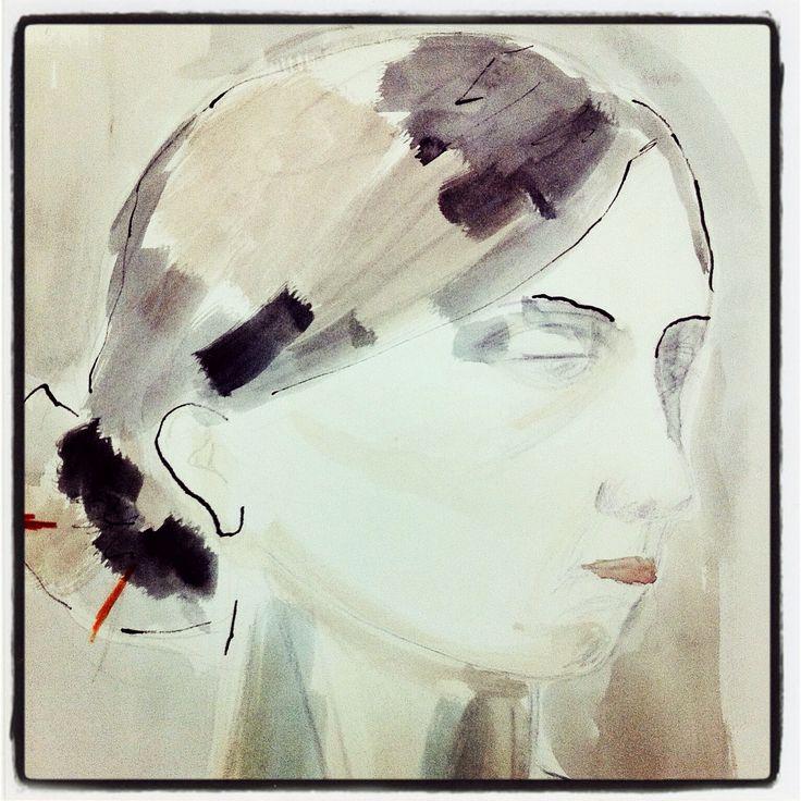 Croquis aquarelle et encre Watercolor And pencil Sketch