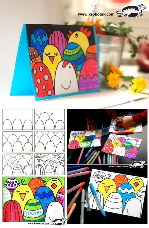 How to make an easy Easter postcard #easter #holidays #easter bunny