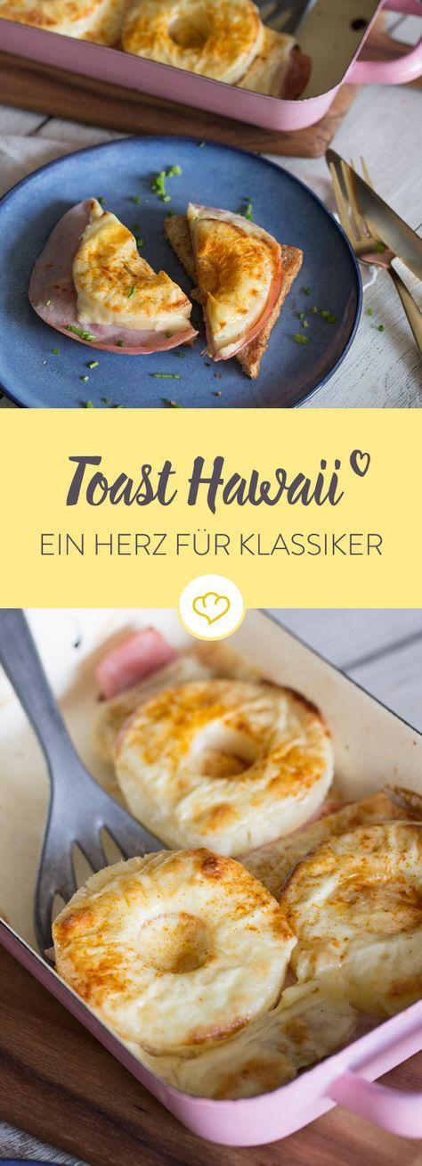 Goldbrauner Toast, Kochschinken, Ananasscheibe und das alles unter einer schmelzenden Käsedecke. So erobert der Klassiker Toast Hawaii deinen Feierabend!
